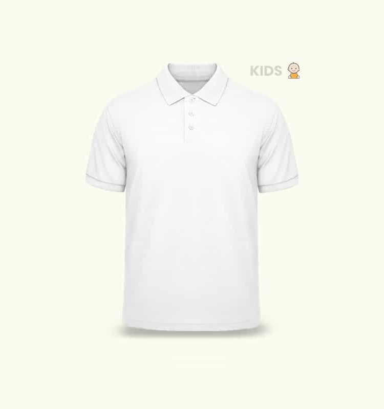 KIDS POLO TSHIRT SHADOW FRONT