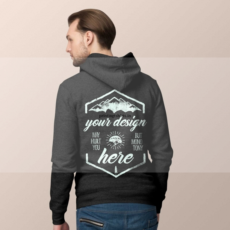 MEN HOODIE MODEL BACK