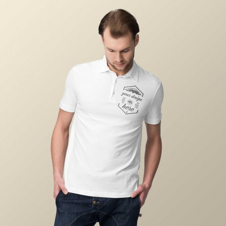 VINTAGE POLO TSHIRT MODEL FRONT