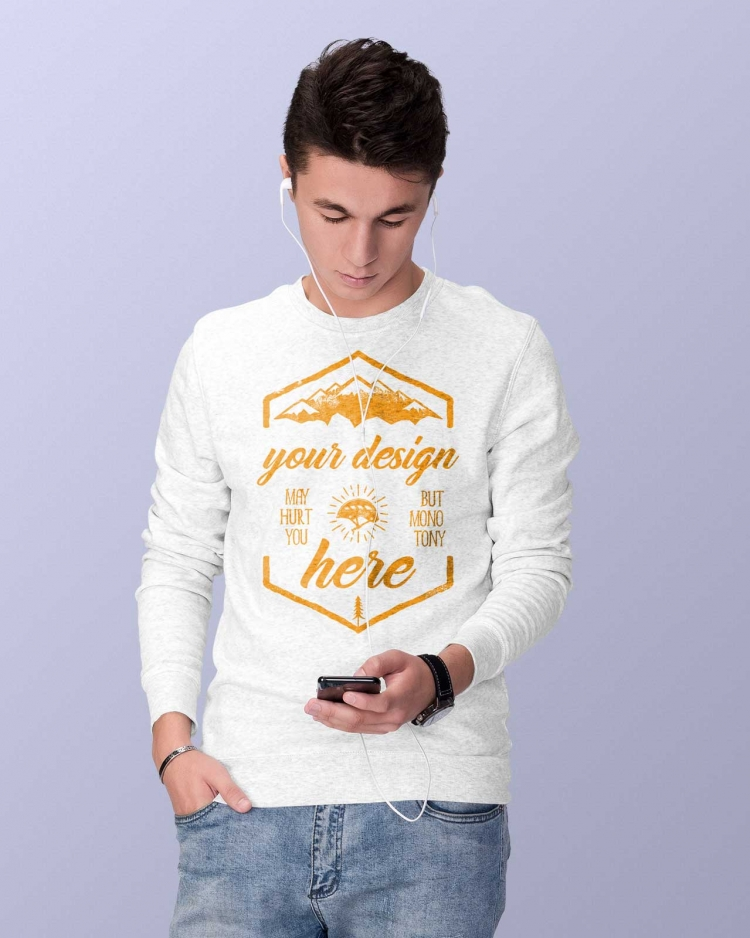 MEN SWEATSHIRT MODEL FRONT
