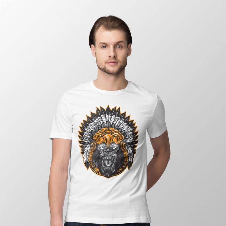 Gorilla White T Shirt